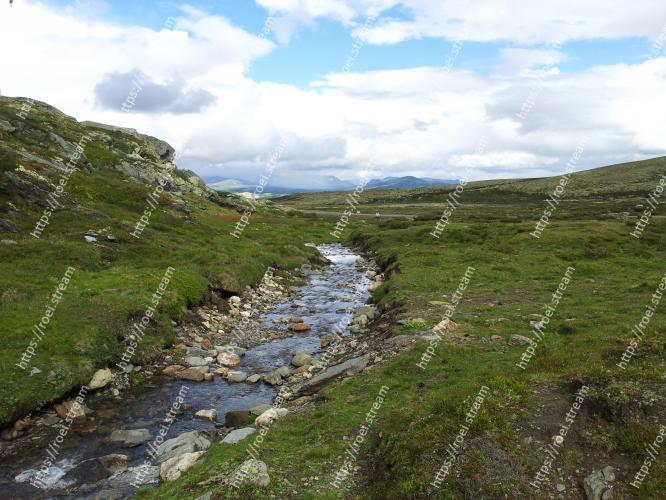 Image of Highland, Mountainous landforms, Natural landscape, Mountain, Nature, Wilderness, Fell, Water resources, Natural environment, Watercourse