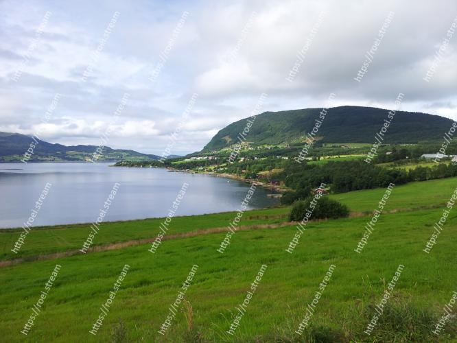 Image of Highland, Body of water, Nature, Lake, Green, Natural landscape, Loch, Sky, Reservoir, Hill