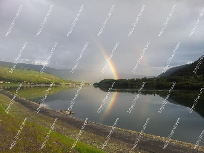 Image of Body of water, Sky, Highland, Nature, Reflection, Rainbow, Water, Loch, Lake, Reservoir