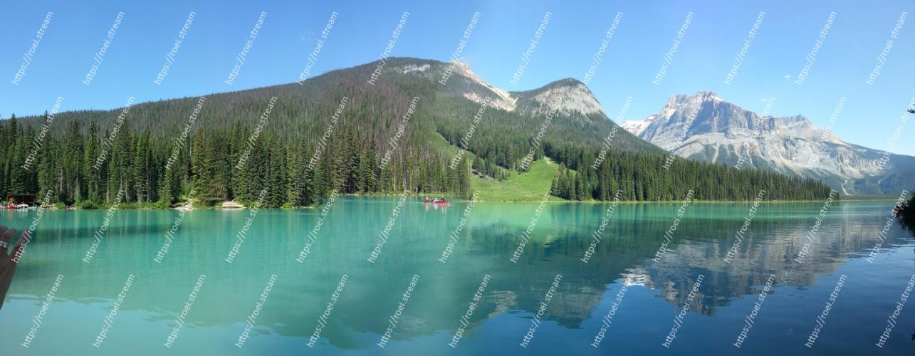 Image of Body of water, Mountain, Natural landscape, Nature, Mountainous landforms, Tarn, Lake, Wilderness, Reflection, Highland Emerald Lake