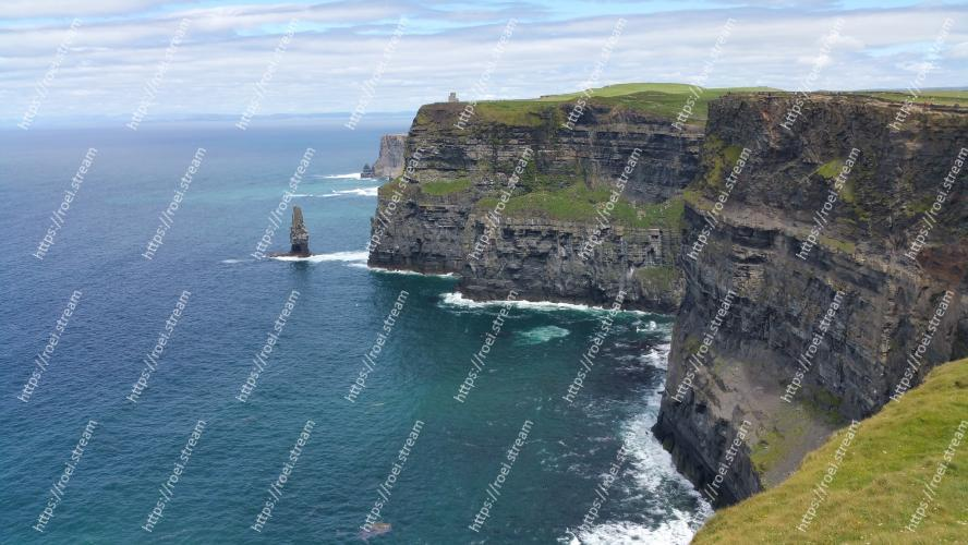 Image of Body of water, Cliff, Headland, Promontory, Klippe, Coast, Coastal and oceanic landforms, Bight, Sea, Cape Cliffs of Moher