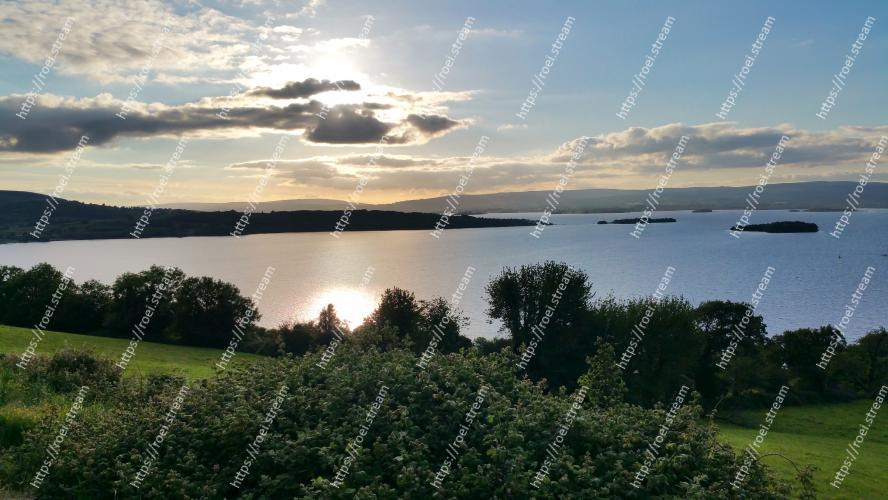 Image of Sky, Body of water, Nature, Water, Natural landscape, Lake, Reservoir, Cloud, Highland, Loch