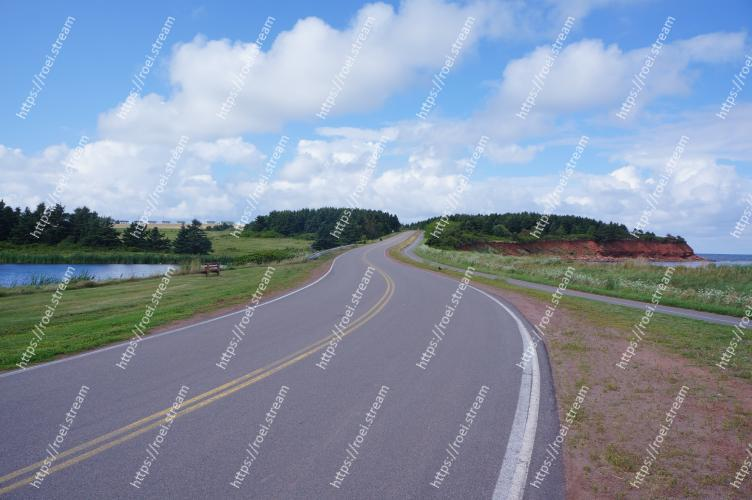Image of Road, Highway, Asphalt, Natural landscape, Sky, Thoroughfare, Infrastructure, Lane, Road surface, Cloud