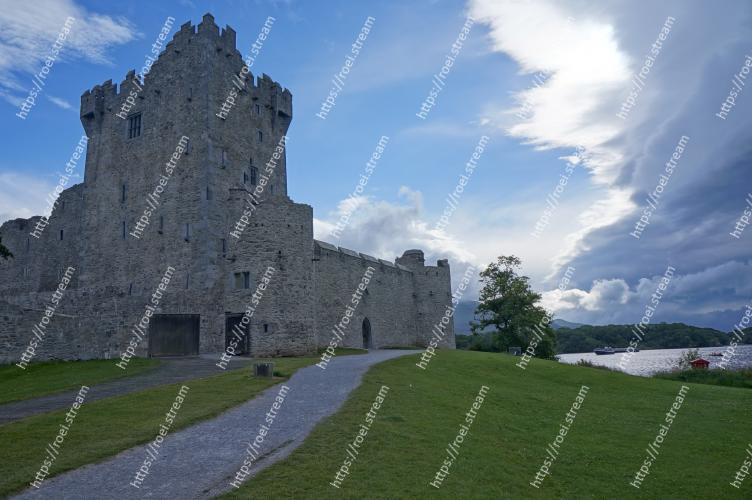 Image of Castle, Landmark, Sky, Grass, Ruins, Highland, Historic site, Fortification, Building, Architecture Ross Castle