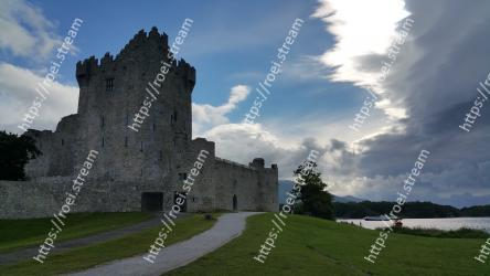 Castle,Sky,Fortification,Ruins,Grass,Building,Highland,Cloud,Tree,Architecture Ross Castle
