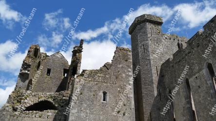 Ruins,Castle,Fortification,Wall,Historic site,Medieval architecture,Ancient history,Building,History,Sky Rock of Cashel