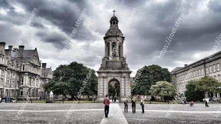 Landmark, City, Sky, Architecture, Public space, Town square, Human settlement, Plaza, Urban area, Building Trinity College, Trinity College| Dublin