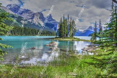 Natural landscape, Nature, Body of water, Wilderness, Reflection, Mountain, Lake, Mountainous landforms, Tarn, Natural environment Spirit Island, Spirit Island