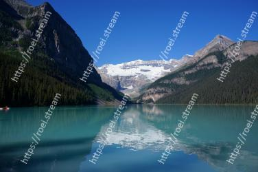 Mountain, Body of water, Mountainous landforms, Natural landscape, Nature, Reflection, Lake, Glacial lake, Tarn, Fjord Lake Louise, Plain of the Six Glaciers