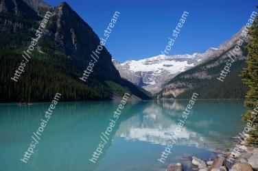 Body of water, Mountain, Mountainous landforms, Nature, Natural landscape, Tarn, Lake, Reflection, Glacial lake, Wilderness Lake Louise, Plain of the Six Glaciers