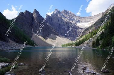 Mountainous landforms, Body of water, Mountain, Natural landscape, Tarn, Nature, Highland, Wilderness, Lake, Glacial lake Lake Agnes