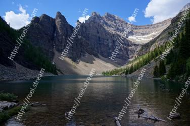 Mountainous landforms, Body of water, Mountain, Tarn, Natural landscape, Nature, Wilderness, Lake, Highland, Glacial lake Lake Agnes