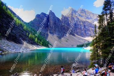 Mountainous landforms, Mountain, Natural landscape, Body of water, Nature, Wilderness, Lake, Glacial lake, Mountain range, Reflection Lake Agnes