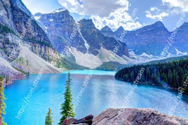 Natural landscape, Mountain, Mountainous landforms, Nature, Body of water, Glacial lake, Wilderness, Moraine, Water, Water resources Moraine Lake