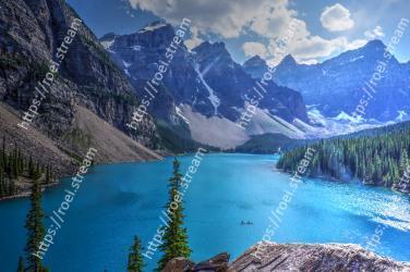 Mountain, Mountainous landforms, Body of water, Nature, Natural landscape, Wilderness, Glacial lake, Lake, Sky, Moraine Moraine Lake