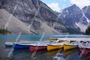 Water transportation, Nature, Boat, Vehicle, Mountain, Boating, Wilderness, Canoe, Fjord, Moraine Moraine Lake