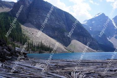 Mountainous landforms, Mountain, Mountain range, Highland, Moraine, Glacial lake, Wilderness, Natural landscape, Fjord, Sound Moraine Lake