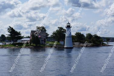 Lighthouse, Tower, Water, River, Beacon, Waterway, Inlet, Lake, Tree, Shore