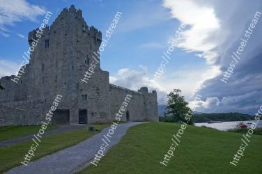 Castle, Landmark, Sky, Grass, Ruins, Highland, Historic site, Fortification, Building, Architecture Ross Castle