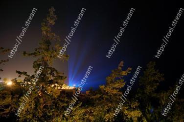 Sky, Night, Light, Tree, Atmospheric phenomenon, Atmosphere, Lighting, Cloud, Darkness, Space