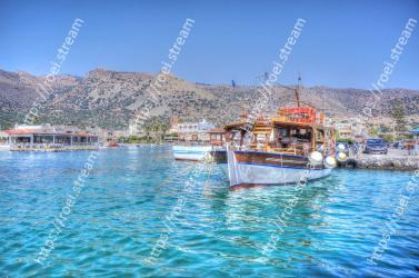 Water transportation, Water, Sky, Blue, Boat, Town, Tourism, Mountain, Sea, Transport