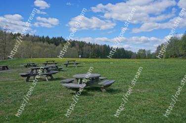 Nature, Natural landscape, Picnic table, Grassland, Grass, Table, Nature reserve, Meadow, Land lot, State park