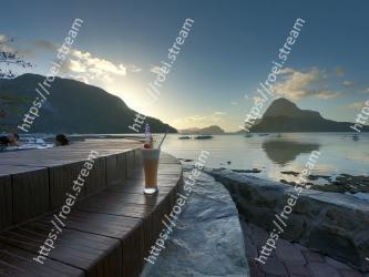 Body of water, Sky, Sea, Water, Coast, Sound, Shore, Morning, Ocean, Mountain