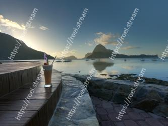 Sky, Water, Sea, Natural landscape, Ocean, Coast, Morning, Reflection, Cloud, Mountain