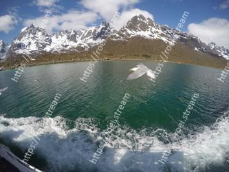 Mountain, Mountainous landforms, Mountain range, Sound, Wave, Water resources, Sky, Water, Lake, Glacial lake