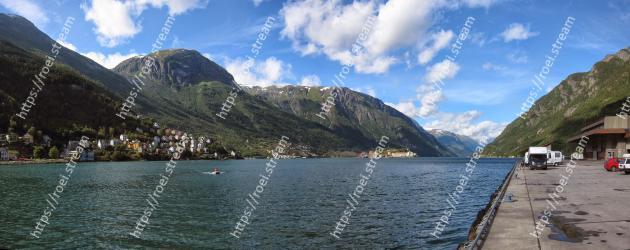 Body of water, Mountainous landforms, Highland, Mountain, Fjord, Mountain range, Lake district, Sound, Natural landscape, Lake Odda